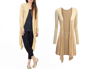 Women's Beige Cotton Jersey Shrug Price in Pakistan