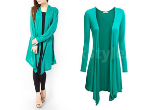 Ladies Green Cotton Jersey Shrug Price in Pakistan