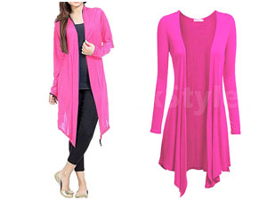 Ladies Pink Cotton Jersey Shrug Price in Pakistan
