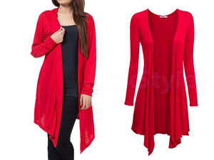Women's Red Cotton Jersey Shrug Price in Pakistan