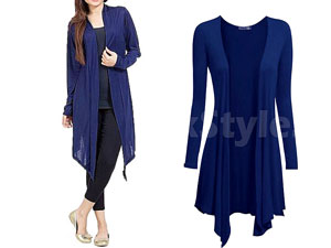 Ladies Navy Blue Cotton Jersey Shrug Price in Pakistan