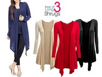 3 Women's Cotton Shrugs Bundle Pack Price in Pakistan