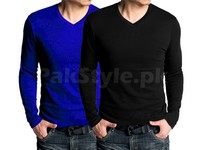 2 V-Neck Full Sleeves T-Shirts in Pakistan