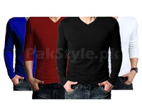 4 V-Neck Full Sleeves T-Shirts in Pakistan
