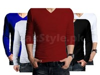 5 V-Neck Full Sleeves T-Shirts in Pakistan