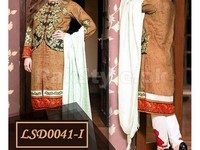 3 Piece Semi Stitched Embroidered Linen Dresses in Pakistan