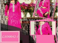 3 Piece Semi Stitched Embroidered Chiffon Suit in Pakistan