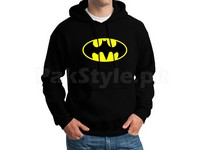 Batman Logo Pullover Hoodie - Black in Pakistan