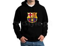 FCB Logo Pullover Hoodie - Black in Pakistan