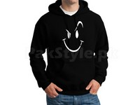 Naughty Smile Logo Pullover Hoodie - Black in Pakistan