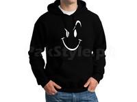 Naughty Smile Logo Pullover Hoodie - Black in Pakistan