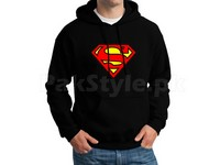 Superman Logo Pullover Hoodie - Black in Pakistan