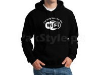 Wifi Logo Pullover Hoodie - Black in Pakistan