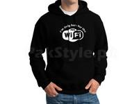 Wifi Logo Pullover Hoodie - Black in Pakistan