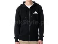 Adidas Logo Zip Hoodie - Black in Pakistan