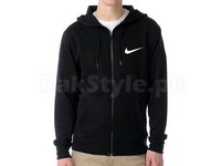 Nike Logo Zip Hoodie - Black in Pakistan