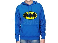 Batman Logo Pullover Hoodie - Blue in Pakistan