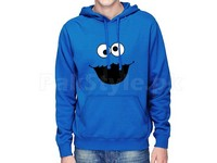 Cookie Monster Logo Pullover Hoodie - Blue in Pakistan