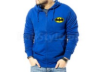 Batman Logo Zip-Up Hoodie - Blue in Pakistan