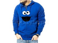 Cookie Monster Logo Zip-Up Hoodie - Blue in Pakistan