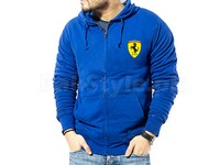 Ferrari Logo Zip-Up Hoodie - Blue in Pakistan