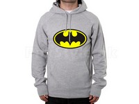 Batman Logo Pullover Hoodie - Grey in Pakistan
