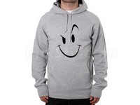 Naughty Smile Logo Pullover Hoodie - Grey in Pakistan