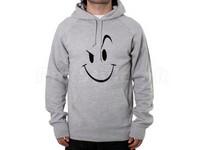 Naughty Smile Logo Pullover Hoodie - Grey in Pakistan