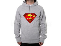 Superman Logo Pullover Hoodie - Grey in Pakistan