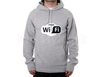 Wifi Logo Pullover Hoodie - Grey in Pakistan