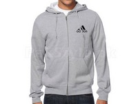 Adidas Logo Zip-Up Hoodie - Grey in Pakistan
