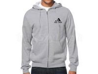 Adidas Logo Zip Hoodie - Grey in Pakistan