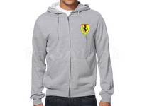 Ferrari Logo Zip-Up Hoodie - Grey in Pakistan