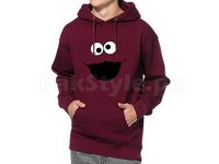 Cookie Monster Logo Pullover Hoodie - Maroon in Pakistan