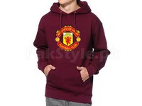 Manchester Logo Pullover Hoodie - Maroon in Pakistan