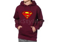 Superman Logo Pullover Hoodie - Maroon in Pakistan