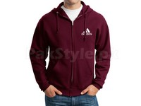 Adidas Logo Zip-Up Hoodie - Maroon in Pakistan