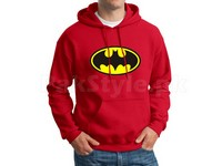 Batman Logo Pullover Hoodie - Red in Pakistan