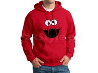 Cookie Monster Logo Pullover Hoodie - Red in Pakistan
