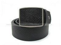 Stylish Men's Black Leather Belt in Pakistan