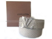 Louis Vuitton Suede Leather Belt White in Pakistan