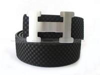 Hermes Suede Leather Belt Black in Pakistan