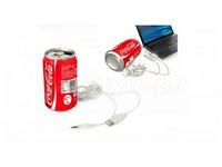 Coca Cola Can Mini Audio Stereo/MP3 Player Speaker + Free Gift in Pakistan