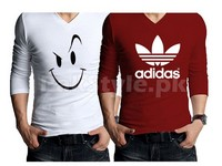2 Full Sleeves Graphic T-Shirts Bundle Pack in Pakistan