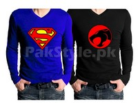 2 V-Neck Graphic T-Shirts Bundle Pack in Pakistan