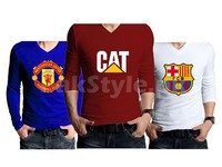 3 Full Sleeves Graphic T-Shirts Bundle Pack in Pakistan