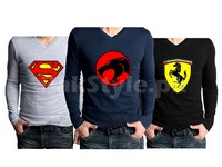 3 V-Neck Graphic T-Shirts Bundle Pack in Pakistan