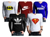 5 Full Sleeves Graphic T-Shirts Bundle Offer in Pakistan