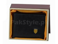 Stylish Synthetic Black Leather Wallet in Pakistan