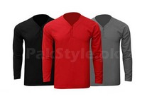 3 Y-Neck Full Sleeves T-Shirts in Pakistan